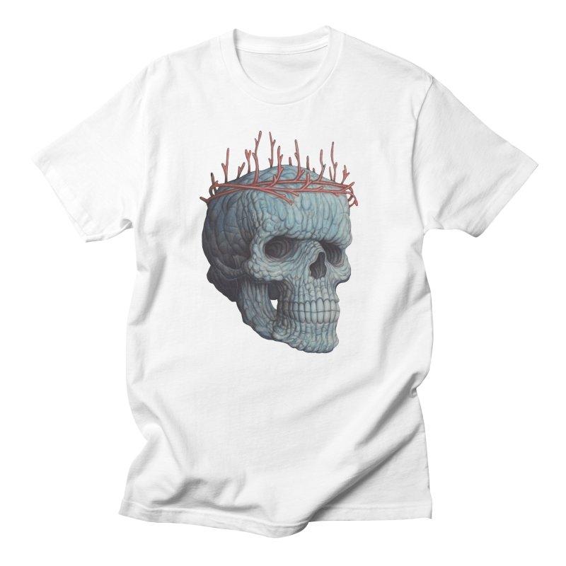 Blue Skull Women's T-Shirt by Nick Sheehy's Artist Shop