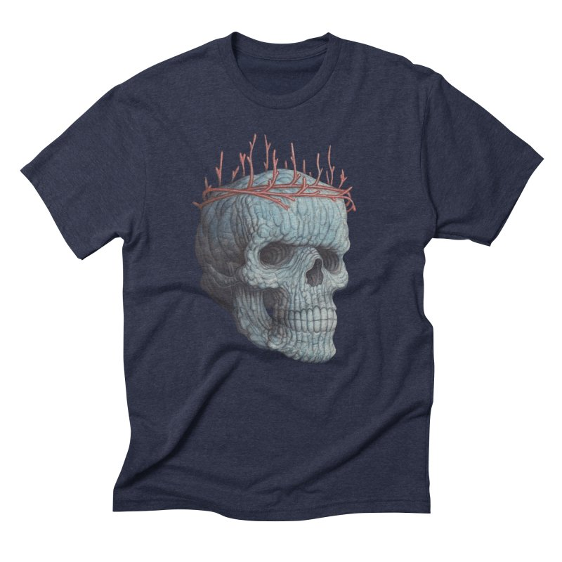 Blue Skull Men's T-Shirt by Nick Sheehy's Artist Shop