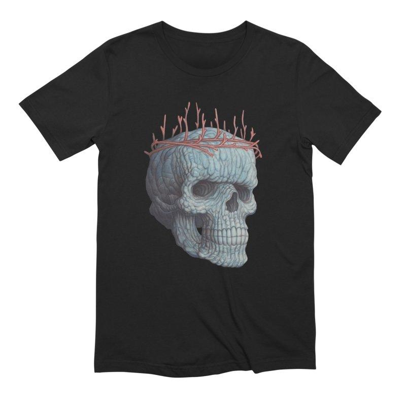 Blue Skull Men's Extra Soft T-Shirt by Nick Sheehy's Artist Shop