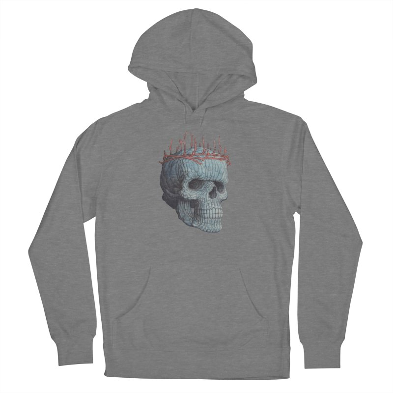 Blue Skull Men's Pullover Hoody by Nick Sheehy's Artist Shop