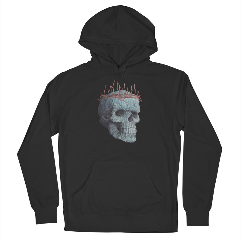 Blue Skull Women's French Terry Pullover Hoody by Nick Sheehy's Artist Shop