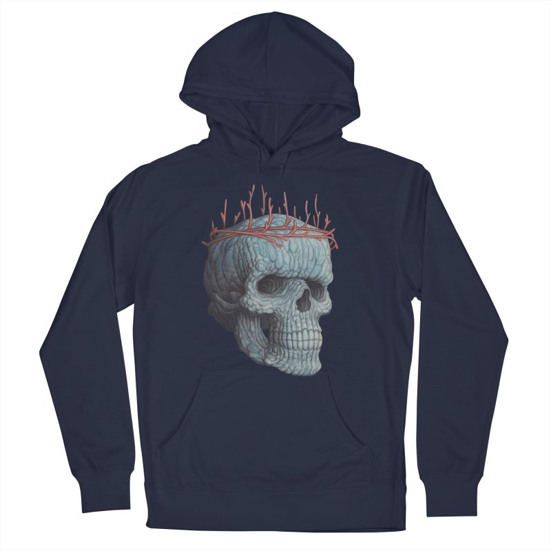 Blue Skull Men's Pullover Hoody by Nick Sheehy's Artist Shop