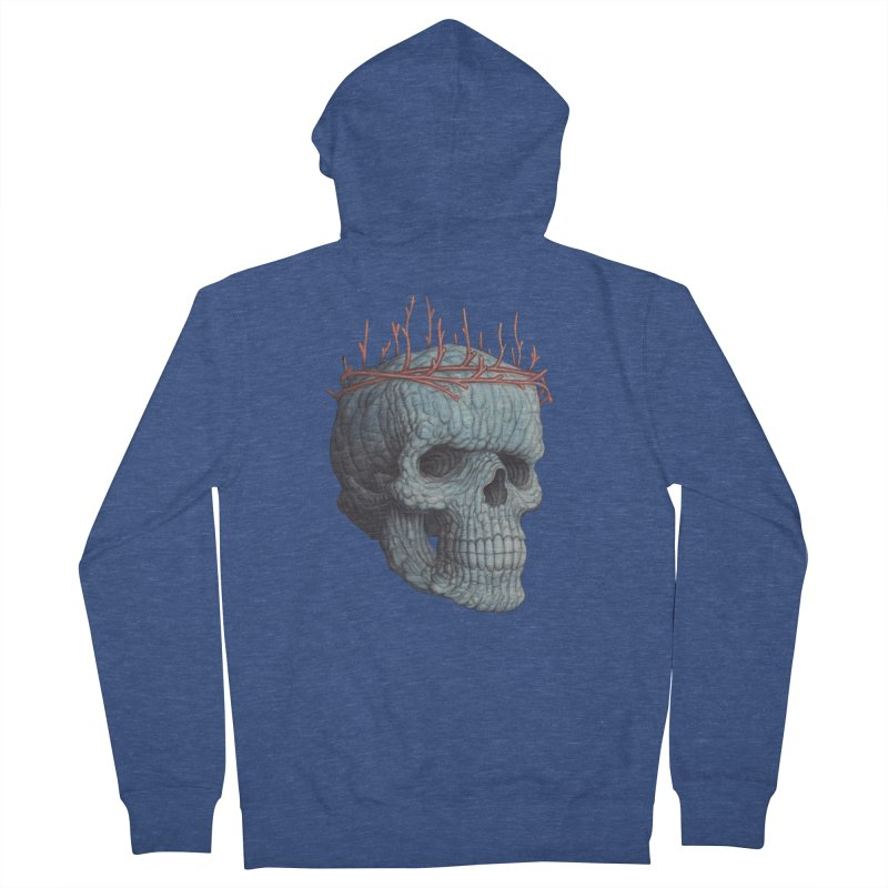 Blue Skull Men's Zip-Up Hoody by Nick Sheehy's Artist Shop