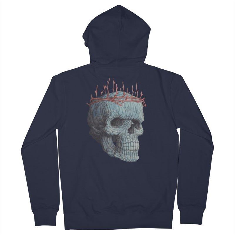 Blue Skull Men's Zip-Up Hoody by Nick Sheehy's Artist Shop