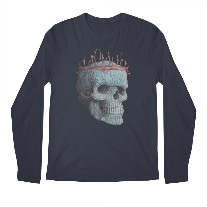 Blue Skull Men's Longsleeve T-Shirt by Nick Sheehy's Artist Shop
