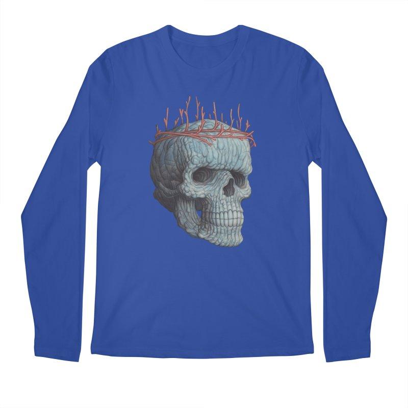 Blue Skull Men's Longsleeve T-Shirt by Nick Sheehy's Artist Shop