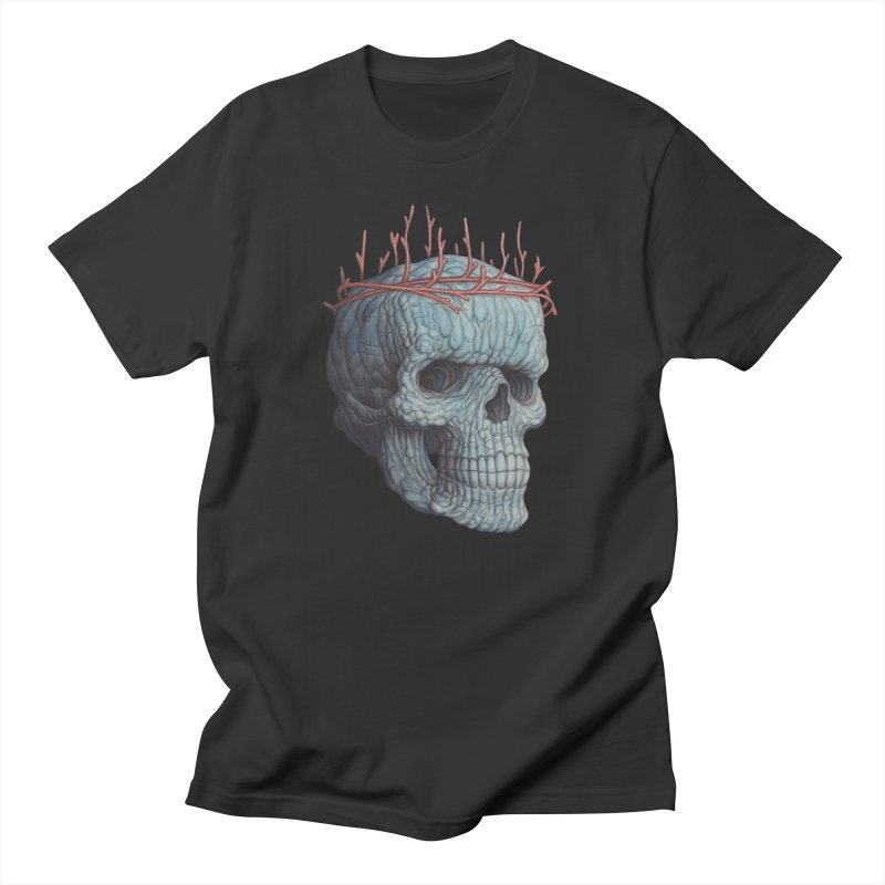 Blue Skull in Men's Regular T-Shirt Smoke by Nick Sheehy's Artist Shop