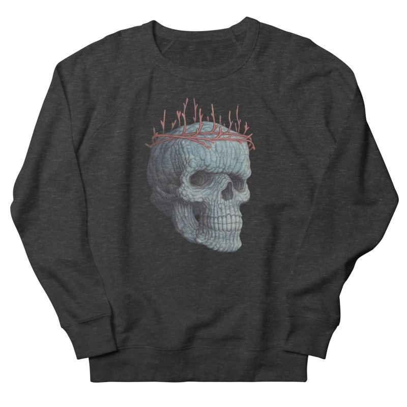 Blue Skull Women's French Terry Sweatshirt by Nick Sheehy's Artist Shop