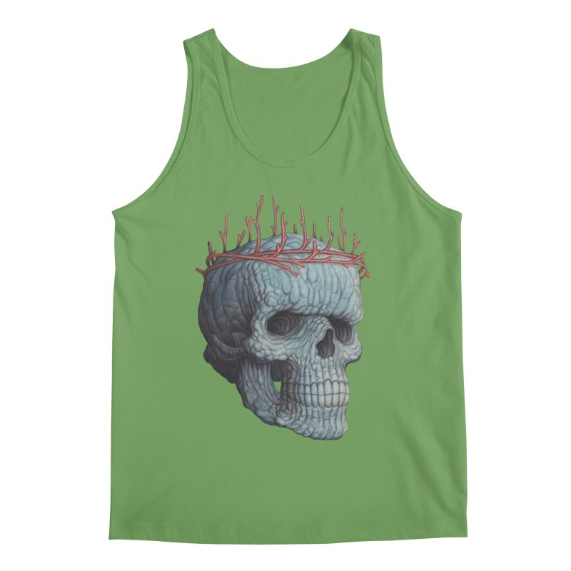 Blue Skull Men's Tank by Nick Sheehy's Artist Shop