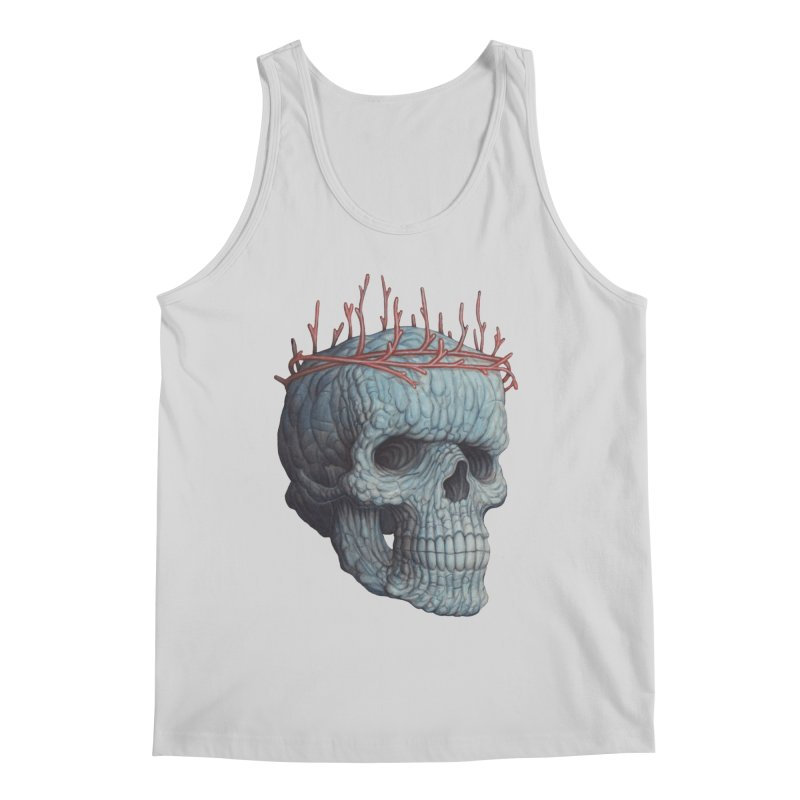 Blue Skull Men's Tank by Nick Sheehy's Artist Shop
