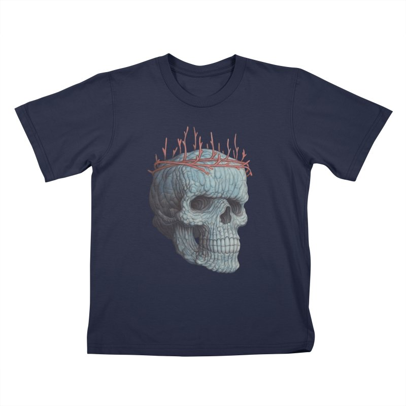 Blue Skull Kids T-Shirt by Nick Sheehy's Artist Shop