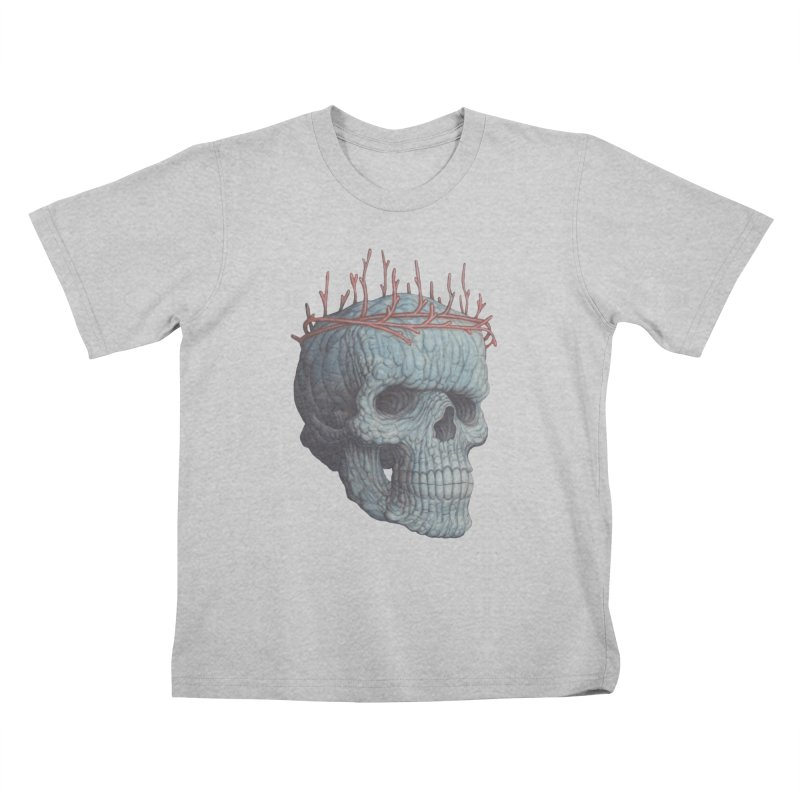 Blue Skull Kids T-Shirt by Nick Sheehy's Artist Shop