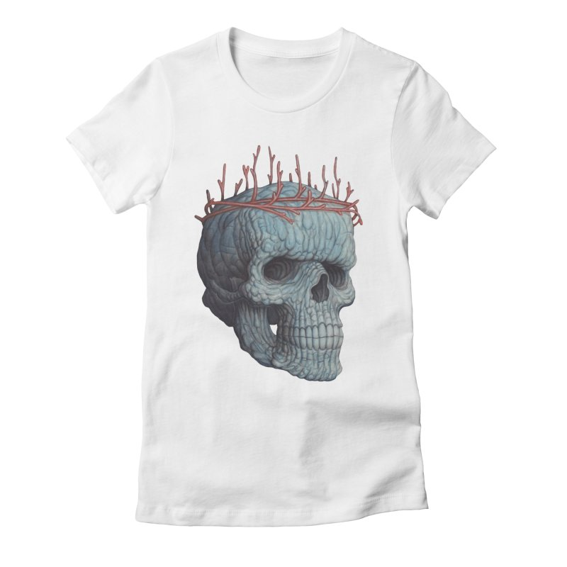 Blue Skull Women's T-Shirt by Nick Sheehy's Artist Shop
