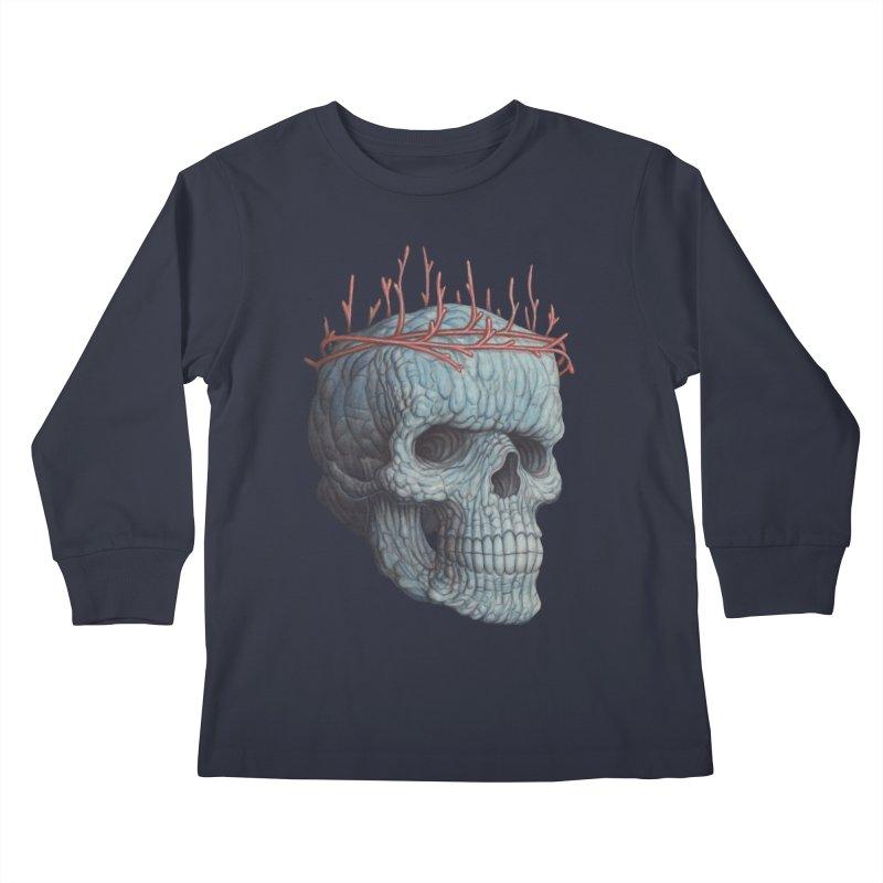 Blue Skull Kids Longsleeve T-Shirt by Nick Sheehy's Artist Shop
