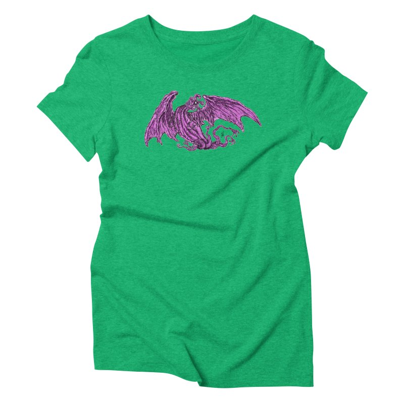 Elder Thing Women's Triblend T-Shirt by Nick the Hat