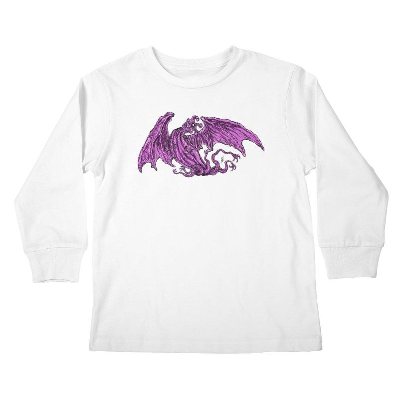 Elder Thing Kids Longsleeve T-Shirt by Nick the Hat