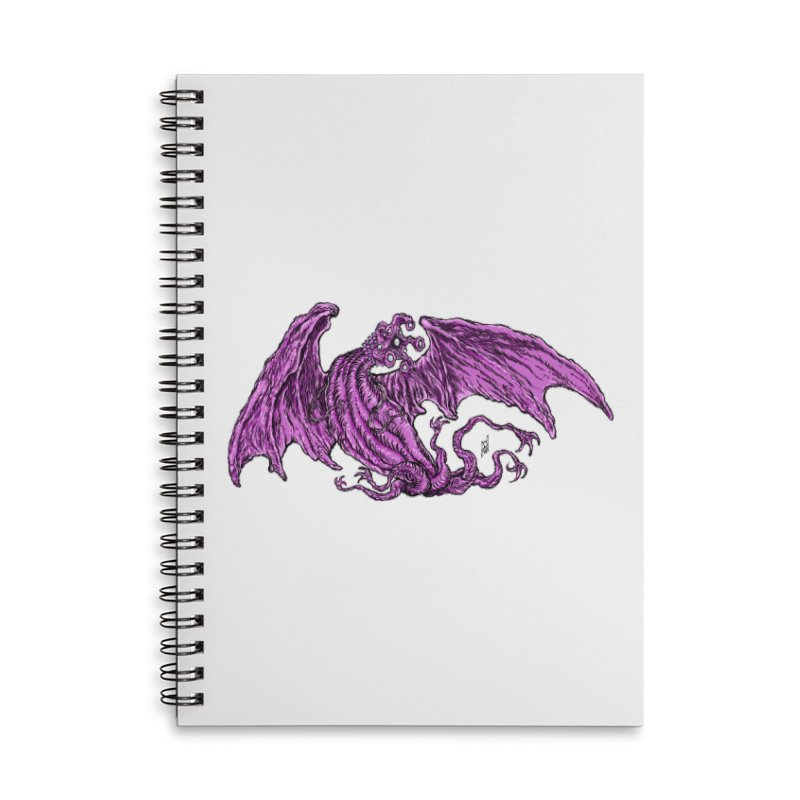 Elder Thing Accessories Lined Spiral Notebook by Nick the Hat