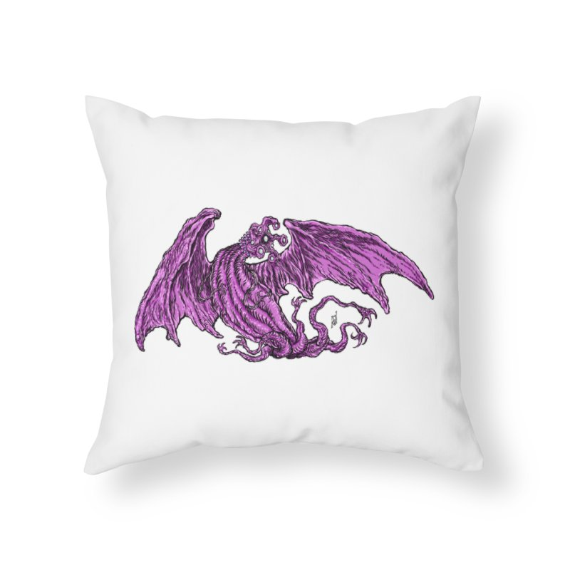 Elder Thing Home Throw Pillow by Nick the Hat
