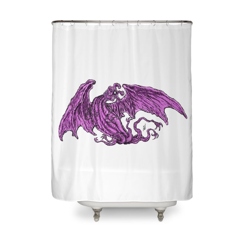 Elder Thing Home Shower Curtain by Nick the Hat