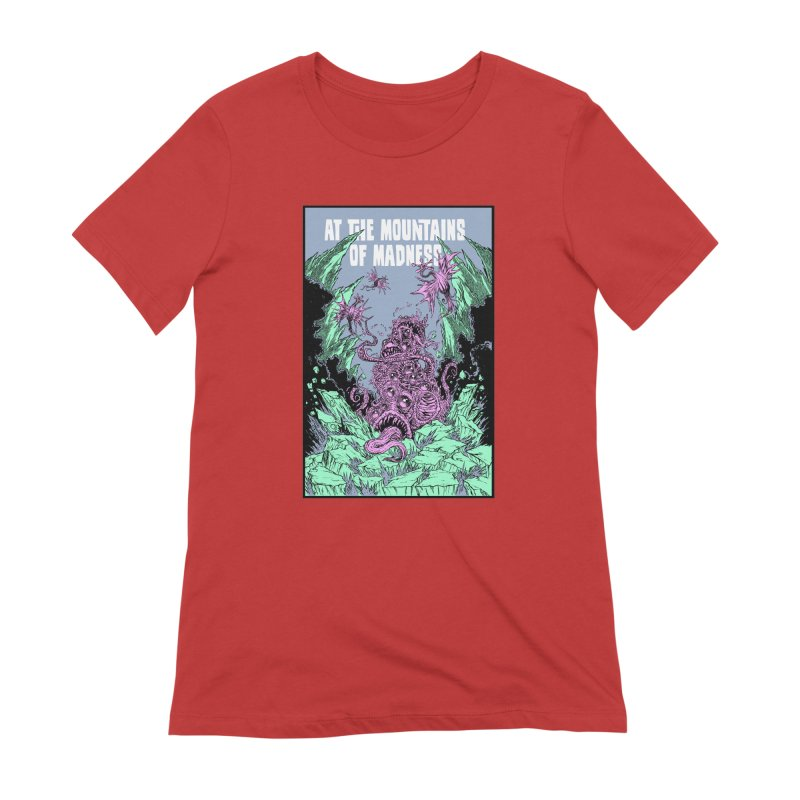 At The Mountains of Madness Women's Extra Soft T-Shirt by Nick the Hat