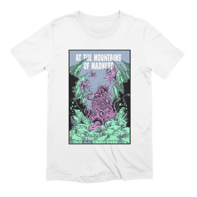 At The Mountains of Madness Men's Extra Soft T-Shirt by Nick the Hat