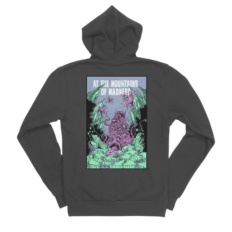 At The Mountains of Madness Men's Sponge Fleece Zip-Up Hoody by Nick the Hat