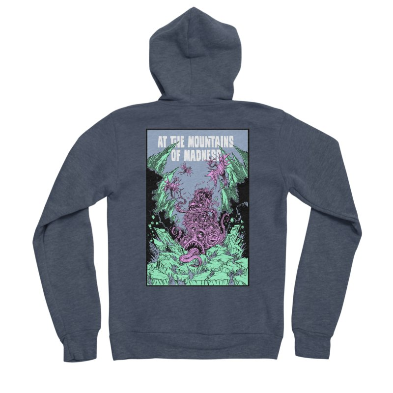 At The Mountains of Madness Women's Sponge Fleece Zip-Up Hoody by Nick the Hat