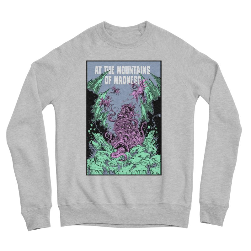 At The Mountains of Madness Men's Sponge Fleece Sweatshirt by Nick the Hat