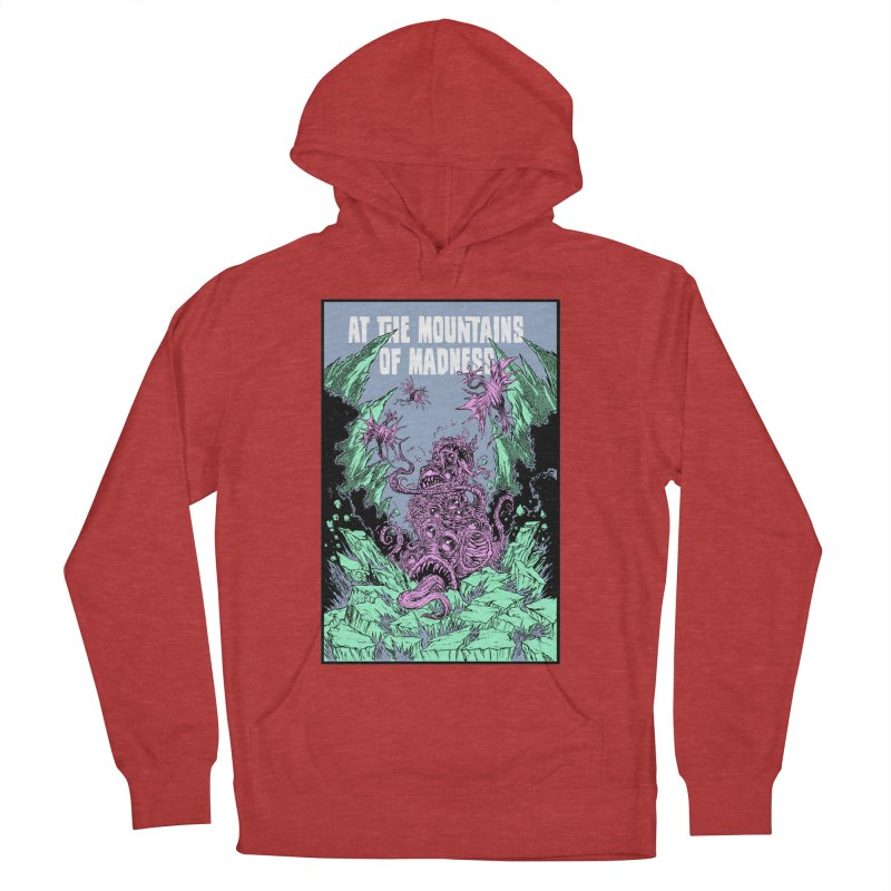 At The Mountains of Madness Women's French Terry Pullover Hoody by Nick the Hat