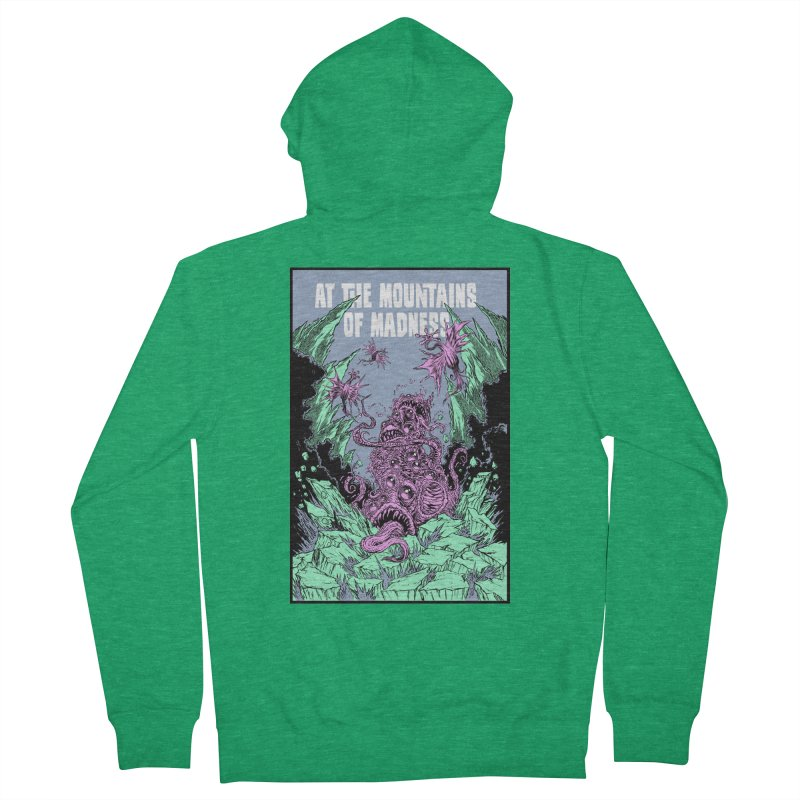 At The Mountains of Madness Men's Zip-Up Hoody by Nick the Hat