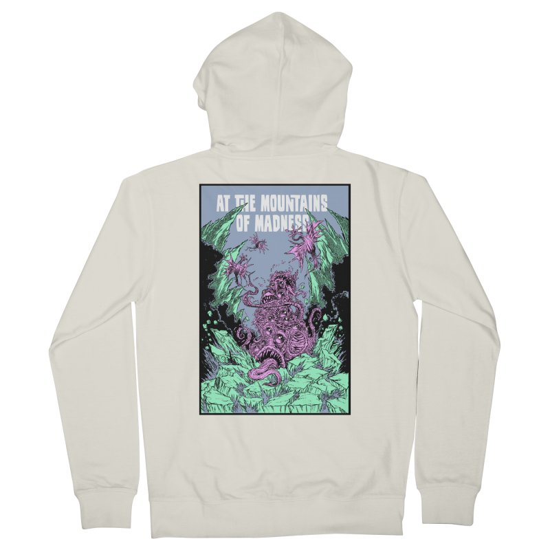 At The Mountains of Madness Men's French Terry Zip-Up Hoody by Nick the Hat