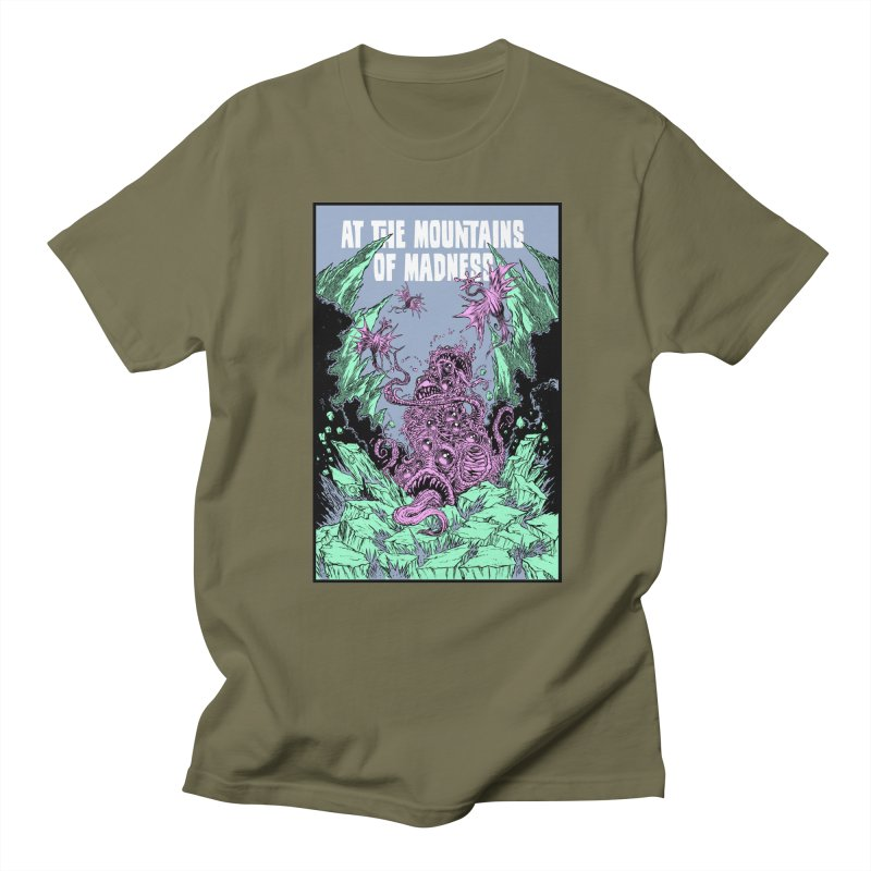 At The Mountains of Madness Men's Regular T-Shirt by Nick the Hat