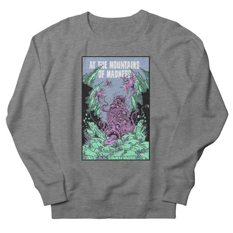 At The Mountains of Madness Men's French Terry Sweatshirt by Nick the Hat