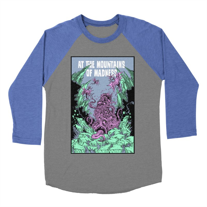 At The Mountains of Madness Men's Baseball Triblend Longsleeve T-Shirt by Nick the Hat