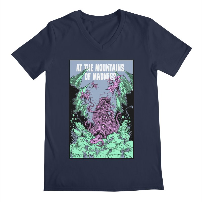 At The Mountains of Madness Men's V-Neck by Nick the Hat
