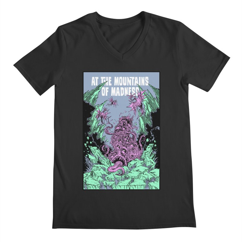 At The Mountains of Madness Men's Regular V-Neck by Nick the Hat