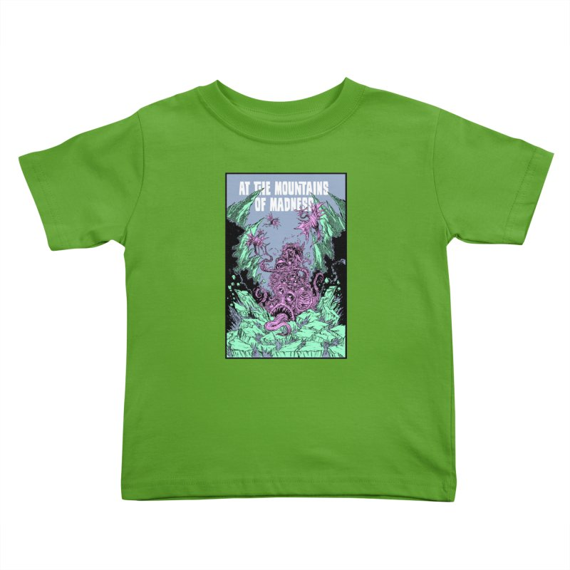 At The Mountains of Madness Kids Toddler T-Shirt by Nick the Hat