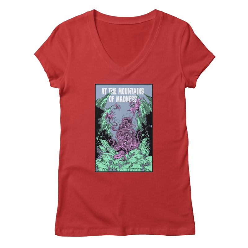At The Mountains of Madness Women's V-Neck by Nick the Hat