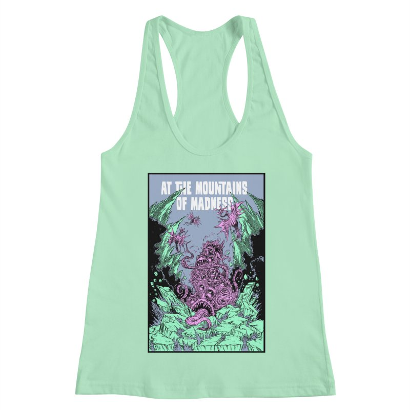 At The Mountains of Madness Women's Racerback Tank by Nick the Hat