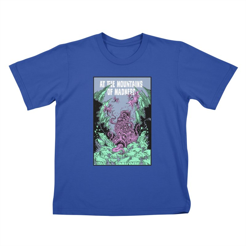 At The Mountains of Madness Kids T-Shirt by Nick the Hat