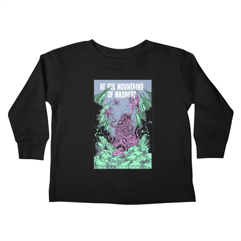 At The Mountains of Madness Kids Toddler Longsleeve T-Shirt by Nick the Hat