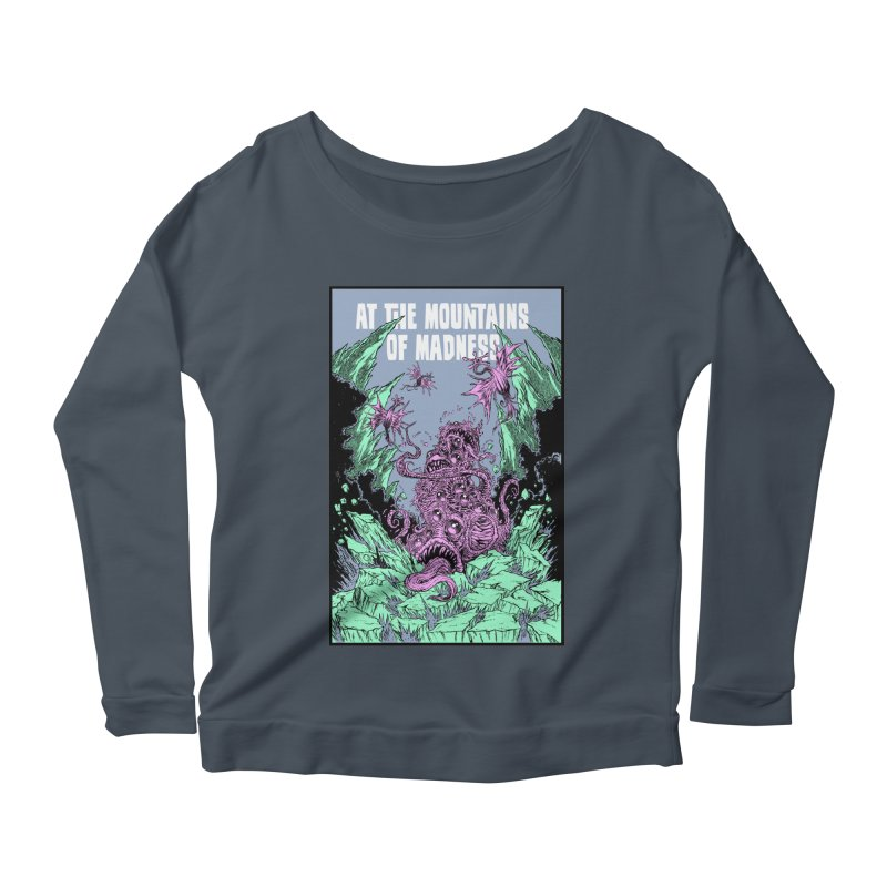 At The Mountains of Madness Women's Scoop Neck Longsleeve T-Shirt by Nick the Hat