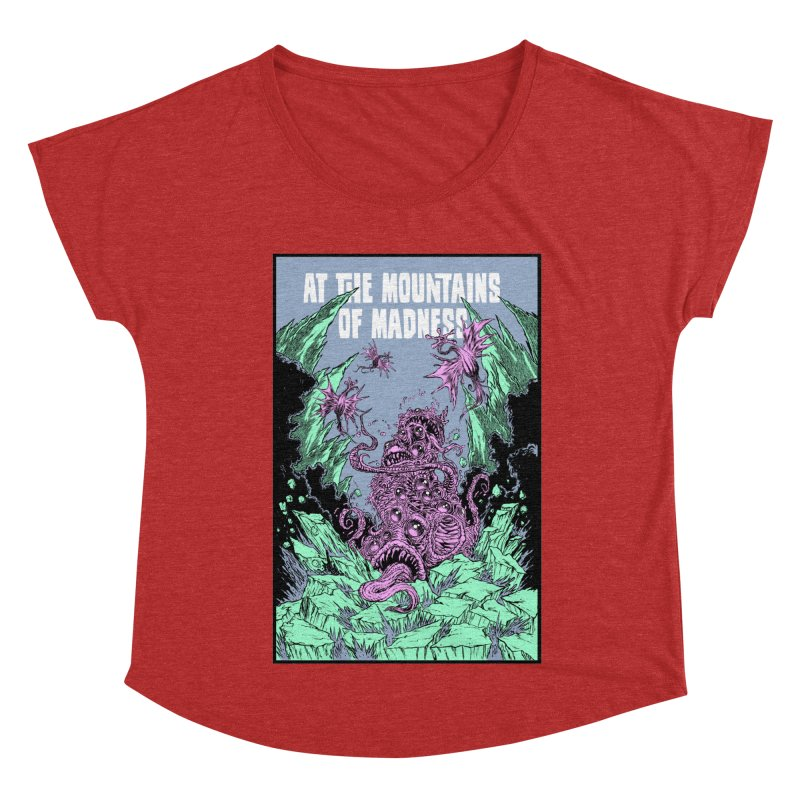 At The Mountains of Madness Women's Dolman Scoop Neck by Nick the Hat