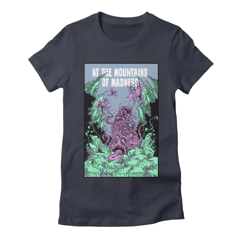 At The Mountains of Madness Women's Fitted T-Shirt by Nick the Hat