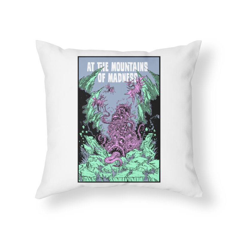 At The Mountains of Madness Home Throw Pillow by Nick the Hat