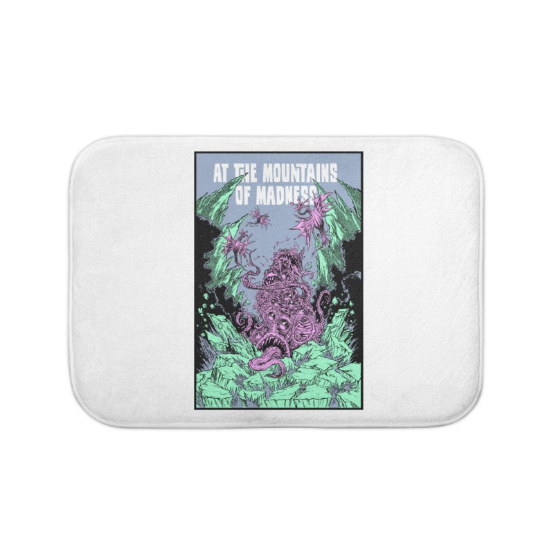 At The Mountains of Madness Home Bath Mat by Nick the Hat