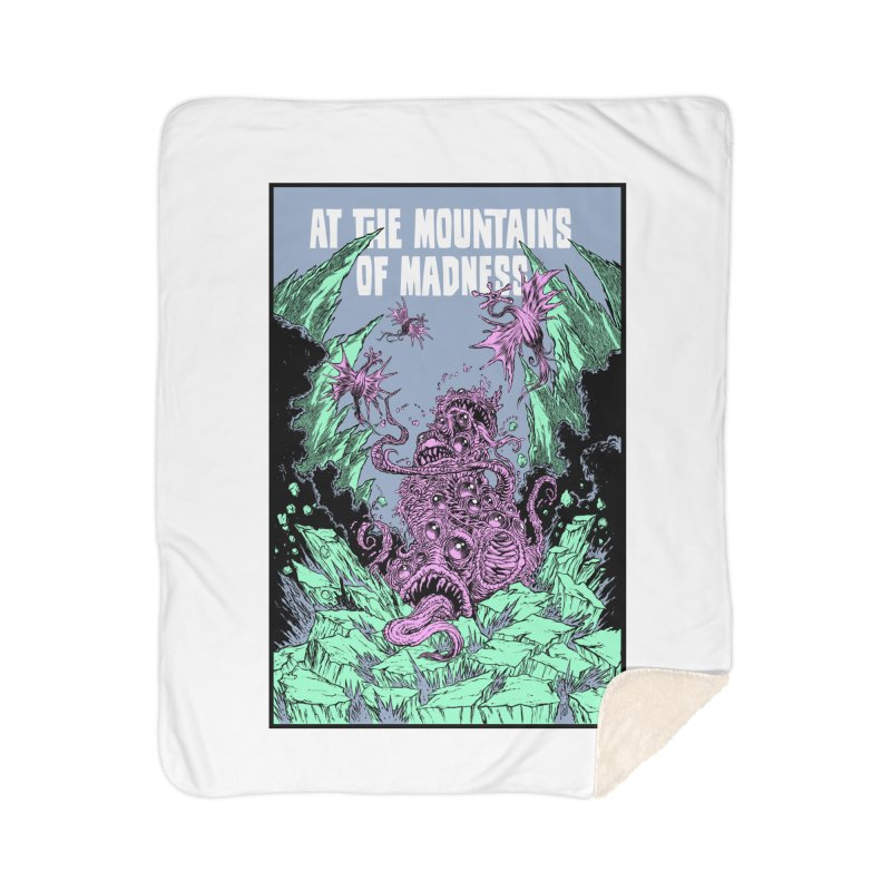 At The Mountains of Madness Home Sherpa Blanket Blanket by Nick the Hat