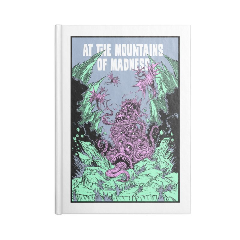 At The Mountains of Madness Accessories Lined Journal Notebook by Nick the Hat