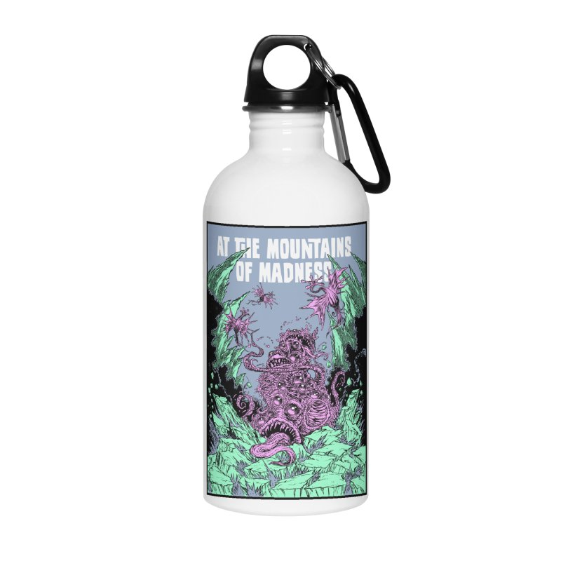 At The Mountains of Madness Accessories Water Bottle by Nick the Hat