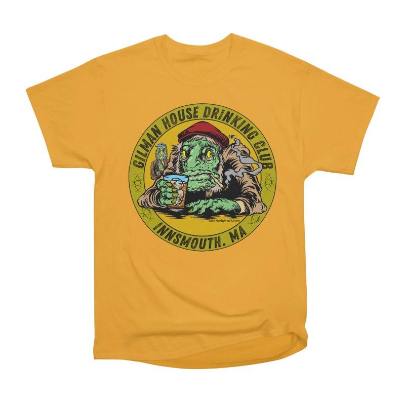 Gilman House Drinking Club Men's Heavyweight T-Shirt by Nick the Hat